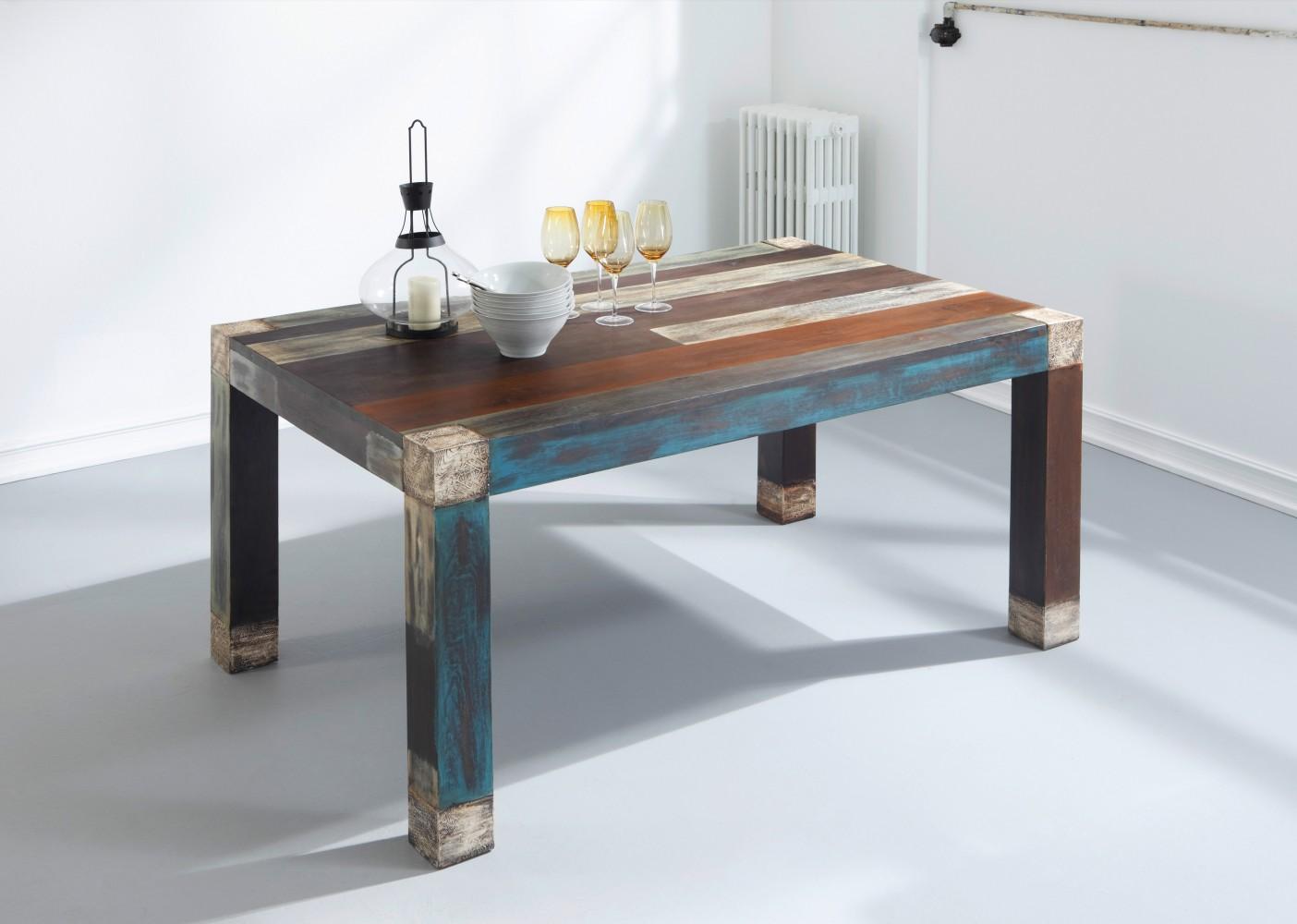 esstisch tisch goa big mango massivholz vintage 160x100 wolf m bel 3515 neu ebay. Black Bedroom Furniture Sets. Home Design Ideas