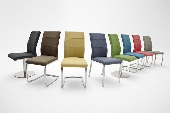 schwingstuhl flores schwingrahmen anthrazit kunstleder. Black Bedroom Furniture Sets. Home Design Ideas