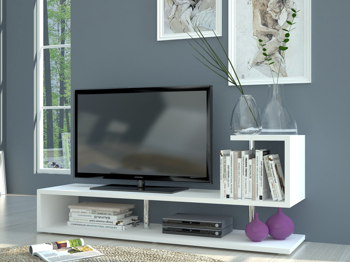 Tv lowboard modern  Tecnos MODERN A TV Lowboard, Breite 150cm weiß