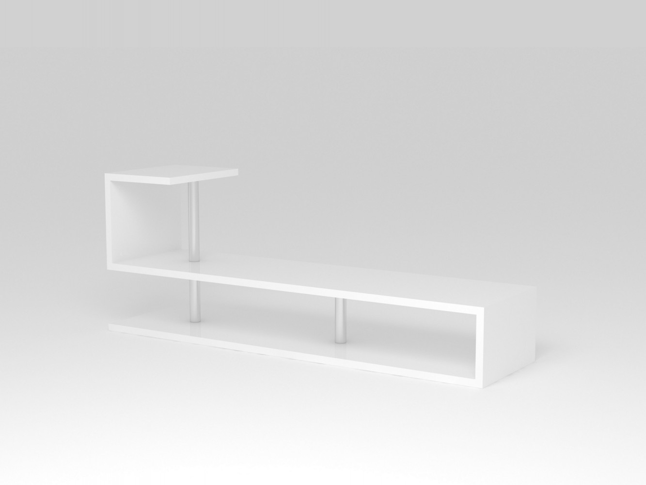 tecnos modern a tv lowboard breite 150cm wei. Black Bedroom Furniture Sets. Home Design Ideas
