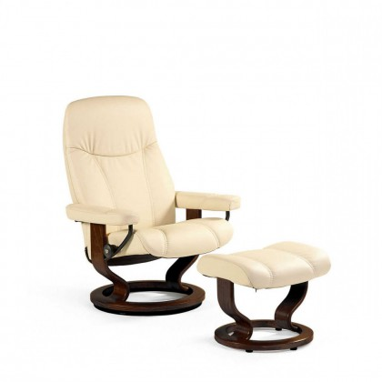 Stressless Consul L Relaxsessel mit Hocker cream large – Bild 2