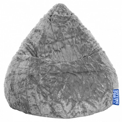 Sitzsack FLUFFY Beanbag XL mittelgrau 220 l Magma by Sitting Point
