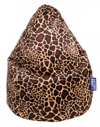 Sitzsack Magma AFRO Beanbag XL mittelbraun by Sitting Point