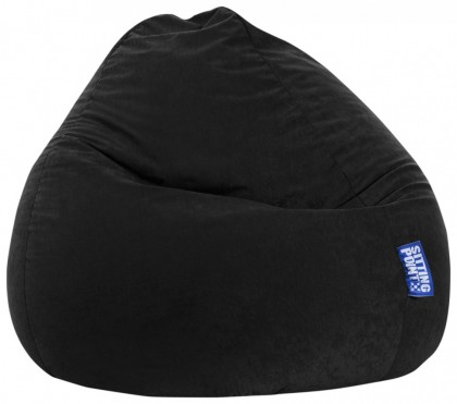 Sitzsack EASY Beanbag XXL schwarz 300 l Magma by Sitting Point