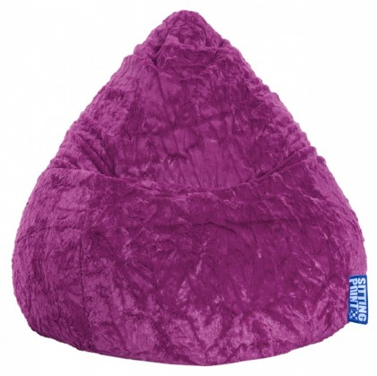 Sitzsack FLUFFY Beanbag XL lila 220 l Magma by Sitting Point