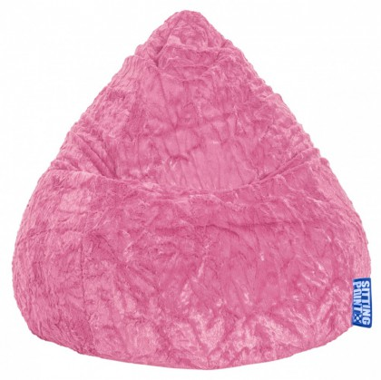 Sitzsack FLUFFY Beanbag XL pink 220 l Magma by Sitting Point