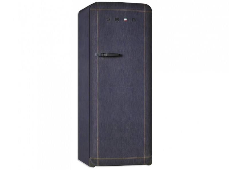 smeg standk hlschrank k hlschrank gefrierfach retro style denim jeans fab28rdb ebay. Black Bedroom Furniture Sets. Home Design Ideas