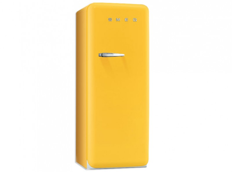 Smeg Standkühlschrank mit Gefrierfach, Retro-Style Gelb, FAB28RG1 | {Standkühlschränke 32}