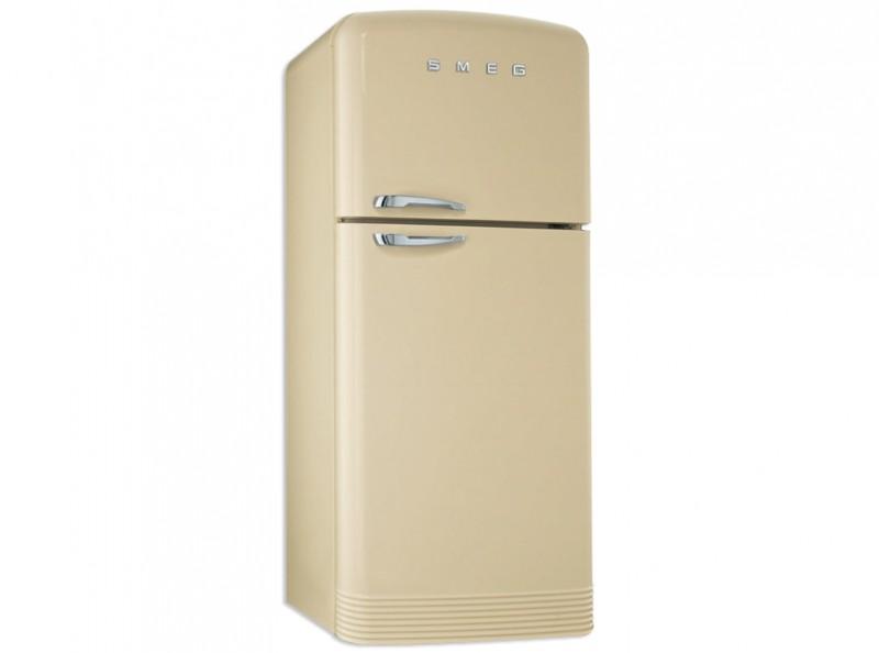 Standkühlschränke  Smeg Standkühlschrank mit Gefrierraum, Retro-Style Creme, FAB50P
