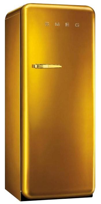 Smeg Standkühlschrank mit Gefrierfach, Retro-Style Swarowski Gold ... | {Standkühlschränke 4}