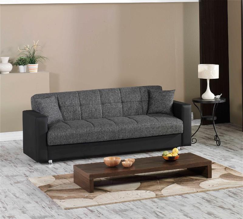 Trendiges kippsofa capri mit bettfunktion inkl kissen for Couch mit bettfunktion lattenrost