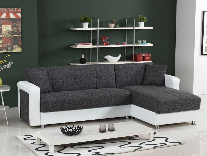 Moderne polsterecke in l form mit bettfunktion inkl for Couch mit bettfunktion lattenrost