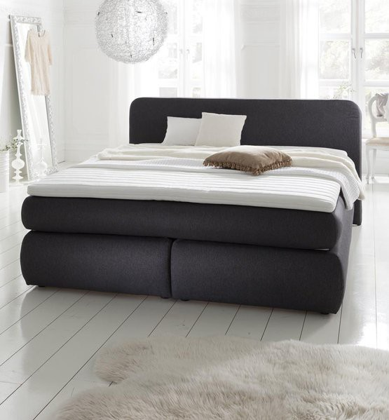 boxspringbett hamburg 180x200 anthrazit box spring bett king size hotelbett ebay. Black Bedroom Furniture Sets. Home Design Ideas