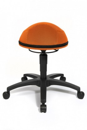 TOPSTAR Sitness Creativ A 410 Half Ball Fitness-Hocker orange