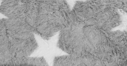 Sitzsack BeanBag FLUFFY Stars grau XL 220l Sitting Point Magma – Bild 5