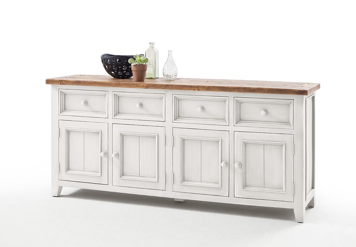 mca sideboard byron bykwht02 wei braun. Black Bedroom Furniture Sets. Home Design Ideas