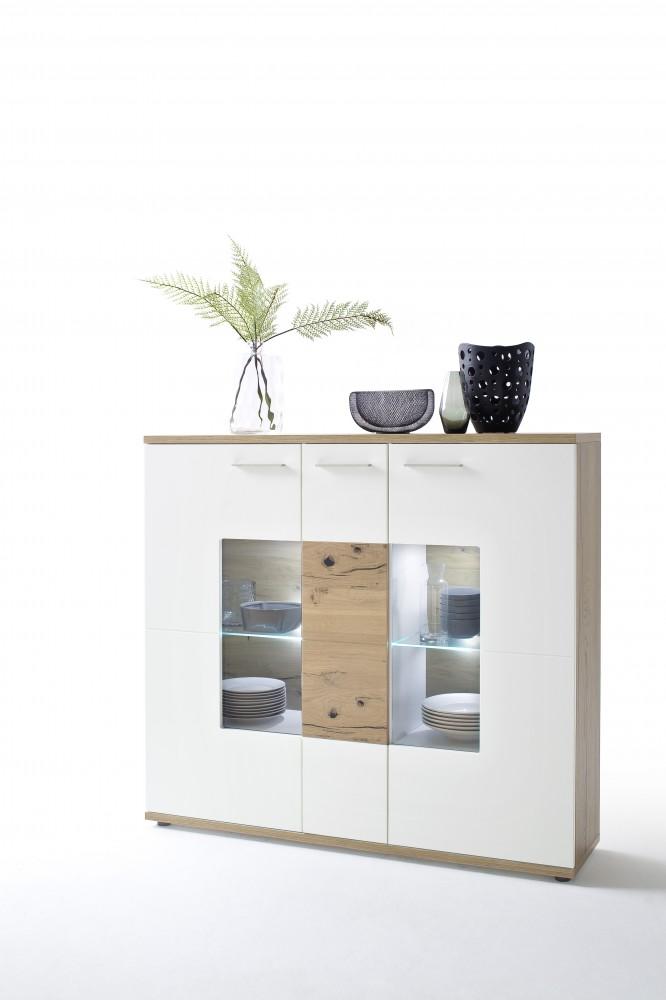 mca furniture nizza niz21t06 kombi highboard wei matt. Black Bedroom Furniture Sets. Home Design Ideas