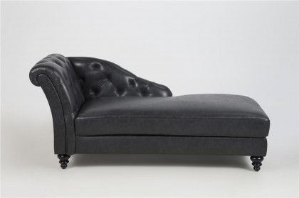 Charlietown Chaiselongue schwarz – Bild 2