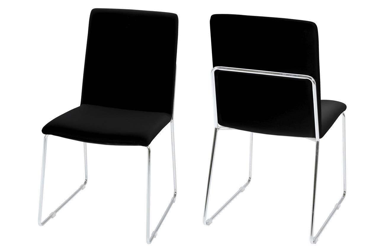 Kitos Esszimmerstuhl schwarz 4er Set
