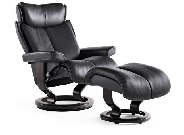 stressless magic l relaxsessel mit hocker rock wenge large. Black Bedroom Furniture Sets. Home Design Ideas