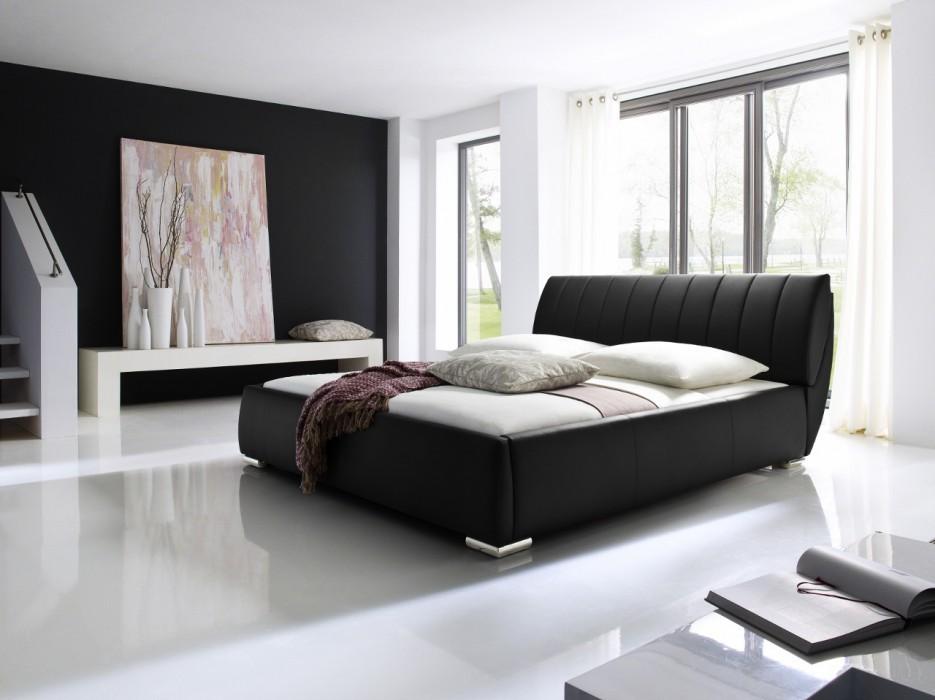 meise bern polsterbett 200x200 cm schwarz. Black Bedroom Furniture Sets. Home Design Ideas