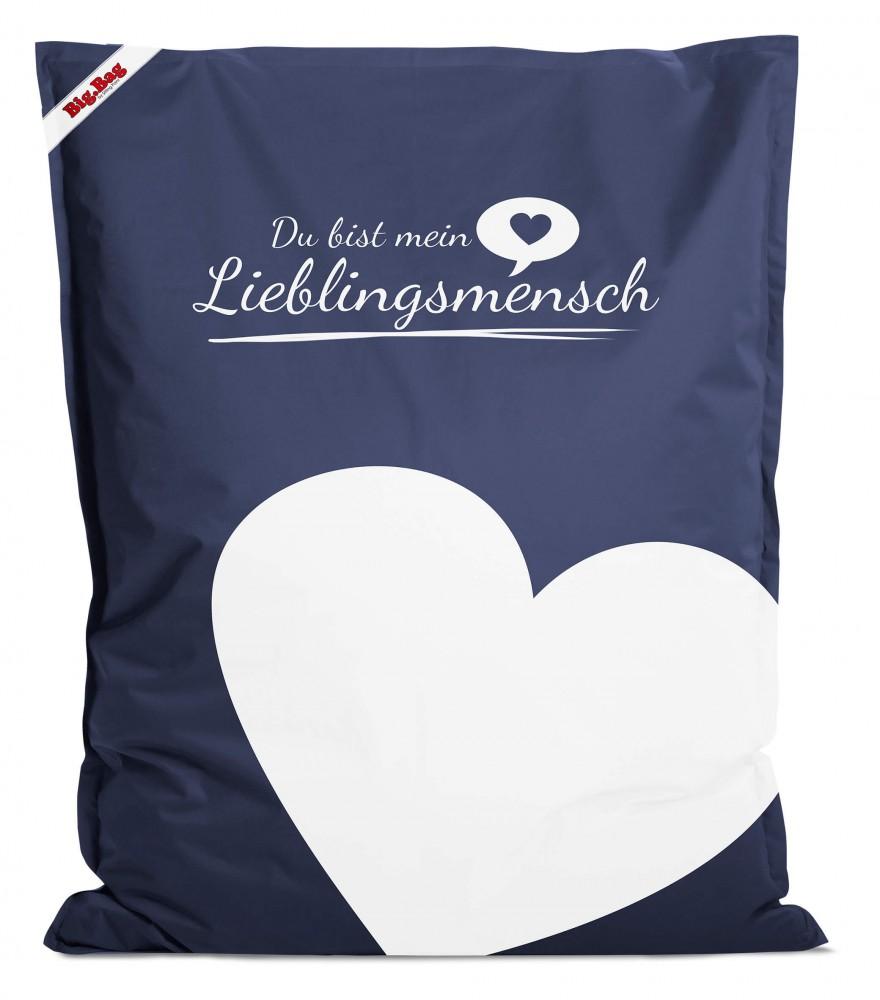 sitzsack bigbag lieblingsmensch jeansblau 380l l by sitting point. Black Bedroom Furniture Sets. Home Design Ideas