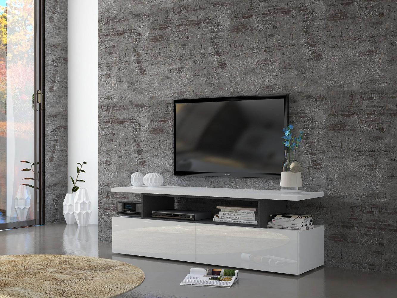 Tv lowboard weiß modern  Tecnos MODERN C TV Lowboard Breite 140cm TV Schrank Fernsehschrank ...