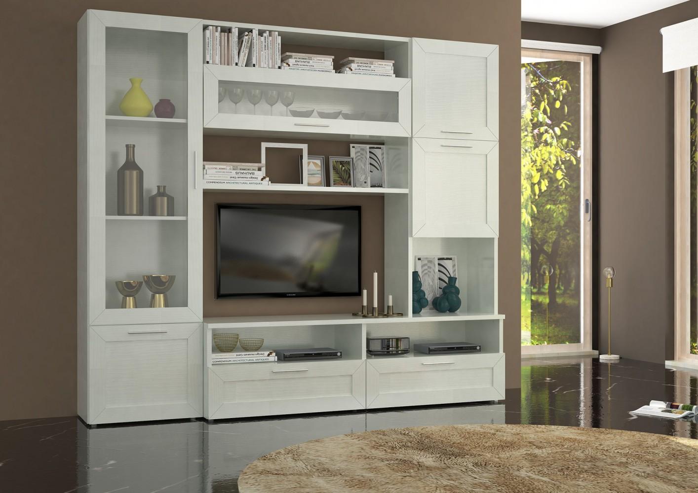 weisse wohnwnde trendy wohnwand in wei und eichefarben wohlfhlen mit carryhome with weisse. Black Bedroom Furniture Sets. Home Design Ideas