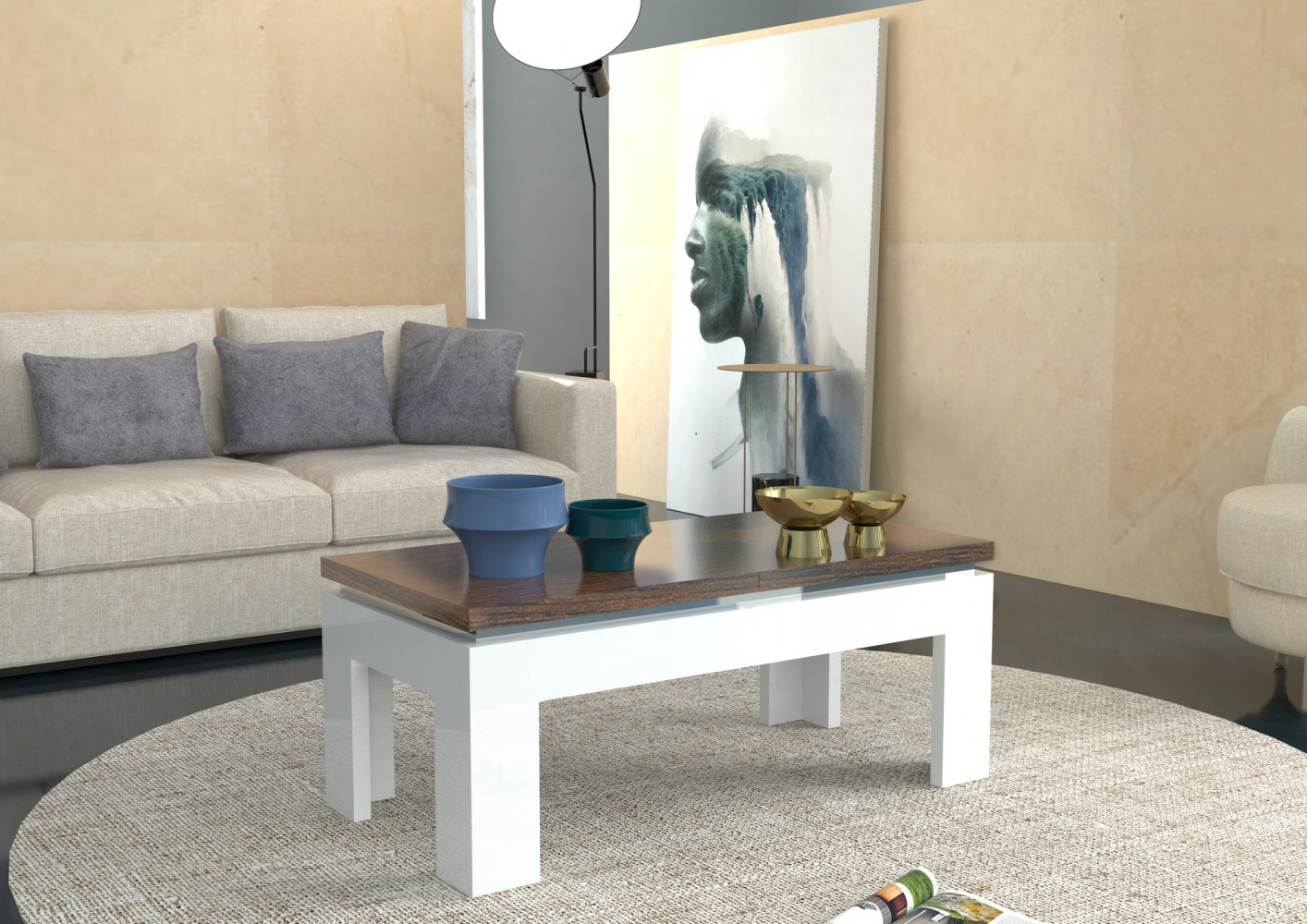 beton couchtisch machen sie den preisvergleich bei nextag. Black Bedroom Furniture Sets. Home Design Ideas