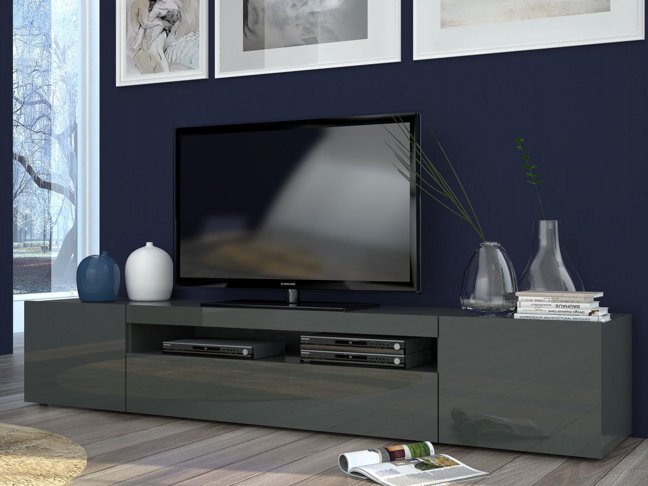 tecnos daiquiri lowboard 200cm wohnwand mediawand italian design modern neu ebay. Black Bedroom Furniture Sets. Home Design Ideas