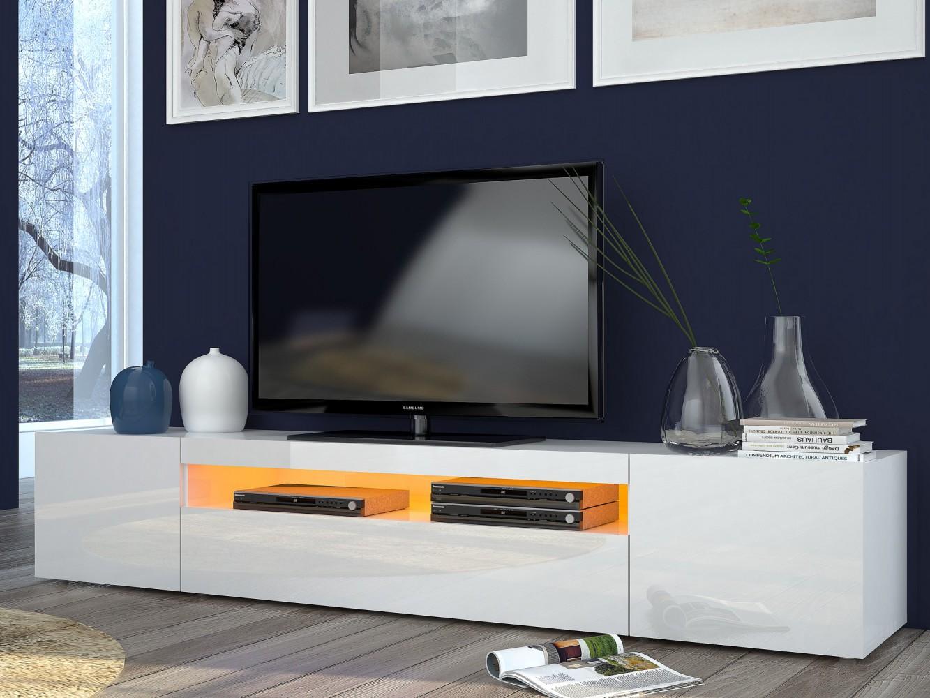 Erstaunlich Sideboard Weiß Hochglanz 200 Cm Beste Wahl Tecnos-daiquiri-lowboard-200cm-wohnwand-mediawand-italian-design-