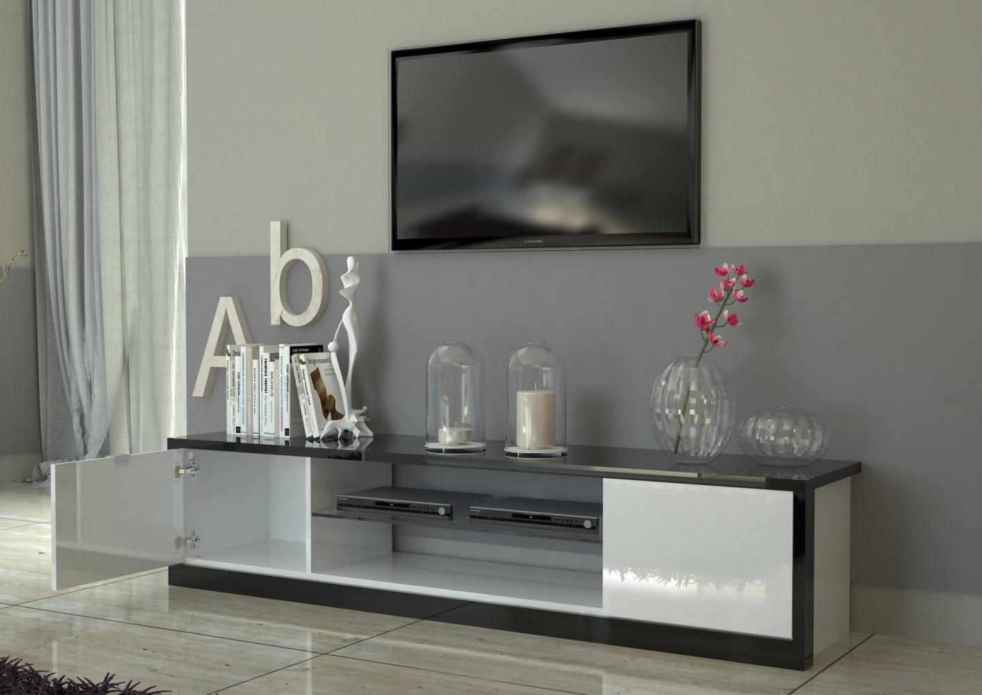tecnos mito lowboard 180cm wohnwand mediawand italian design modern neu ebay. Black Bedroom Furniture Sets. Home Design Ideas