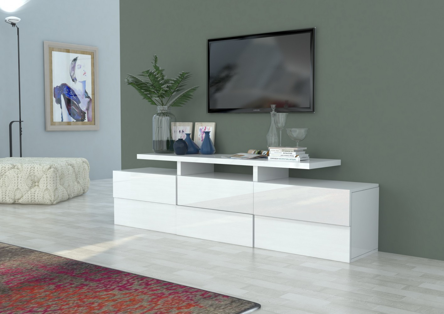 Cool Wohnwand 200 Cm Das Beste Von Tecnos-scacco-lowboard-200cm-wohnwand-mediawand-anbauwand-italian-