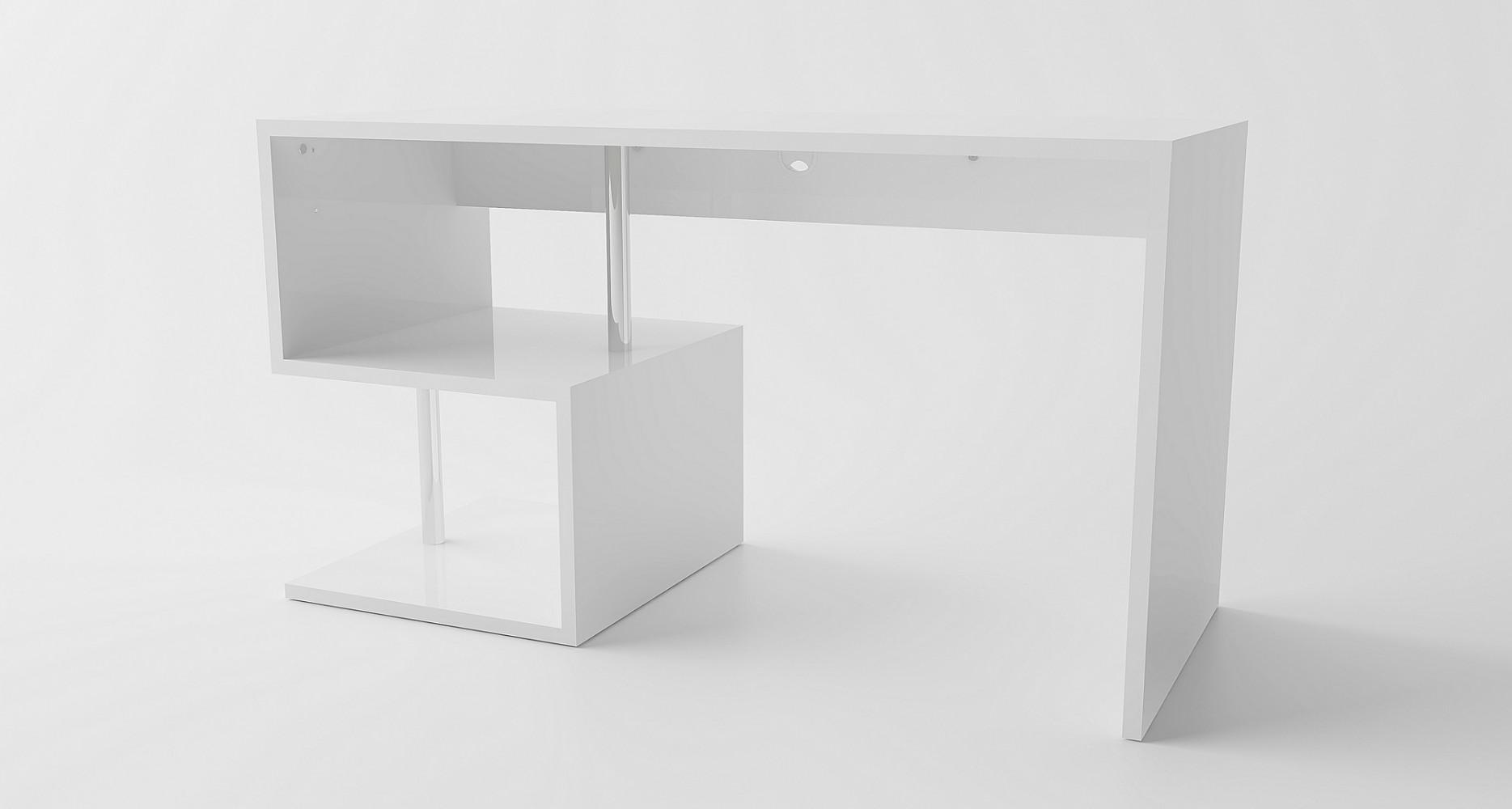 tecnos esse schreibtisch computertisch ecktisch winkeltisch b ro weiss neu ebay. Black Bedroom Furniture Sets. Home Design Ideas