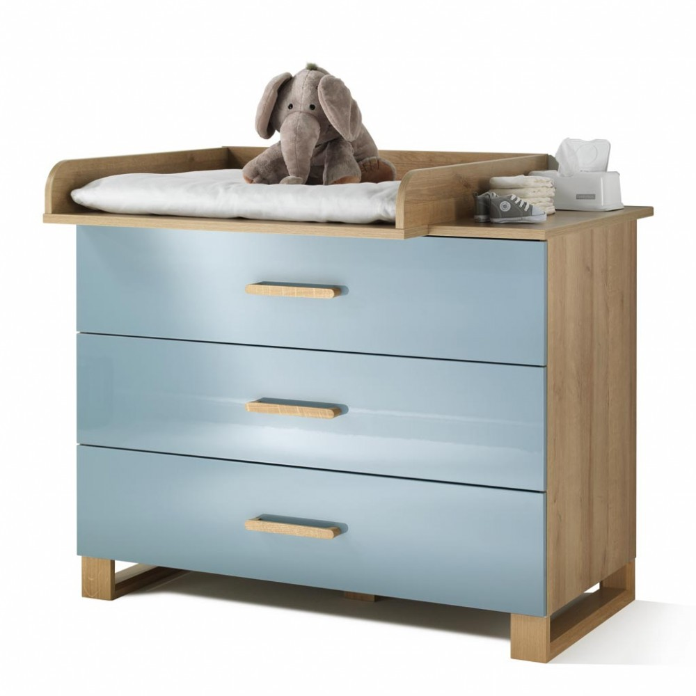 wellem bel benno kinderzimmer riviera eiche pacific blau. Black Bedroom Furniture Sets. Home Design Ideas