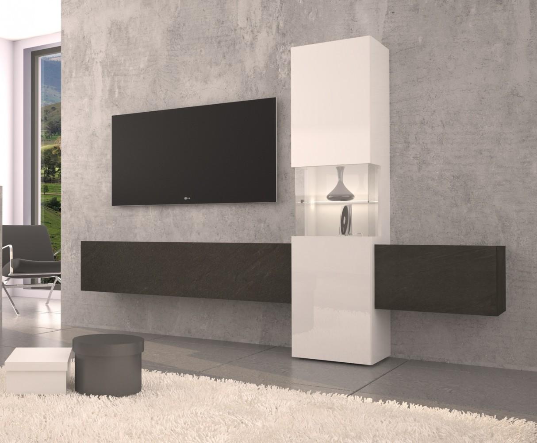 Verschiedene Schrankwand Weiß Beste Wahl Wohnwand Weiß/schiefer Anbauwand Mediawand