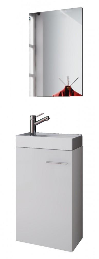 Waschplatz badm bel set waschtisch keramik waschbecken for Wc spiegel shop