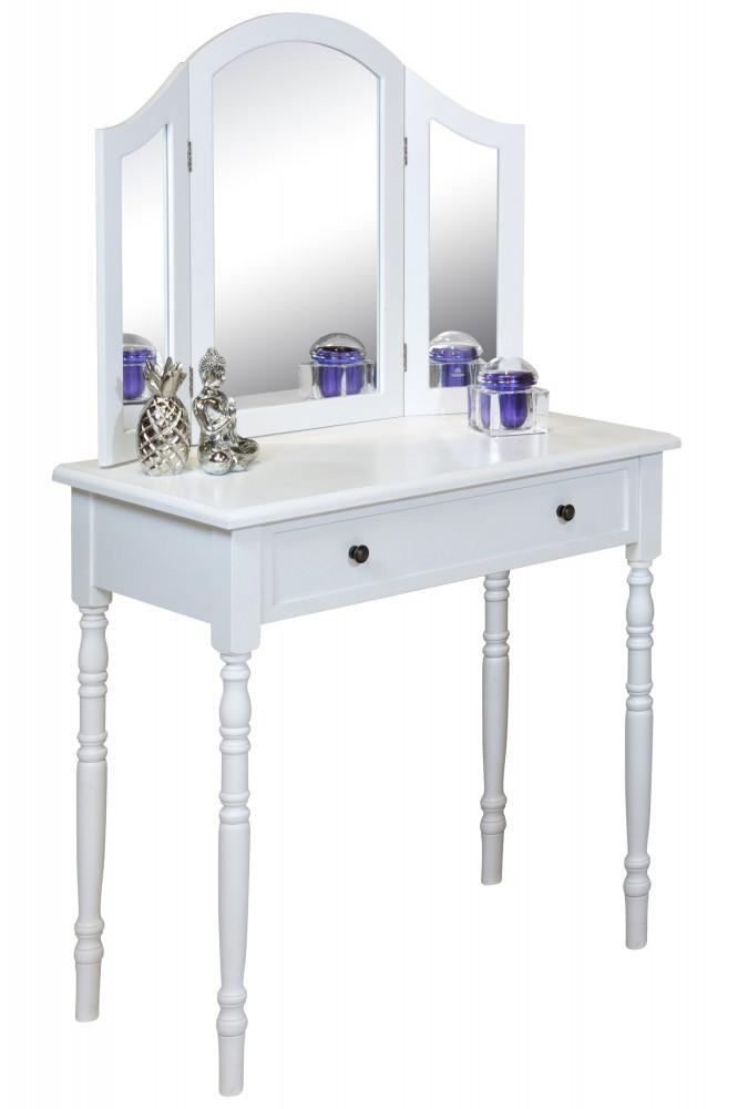 schminktisch weiss eva 3tlg mit spiegel. Black Bedroom Furniture Sets. Home Design Ideas
