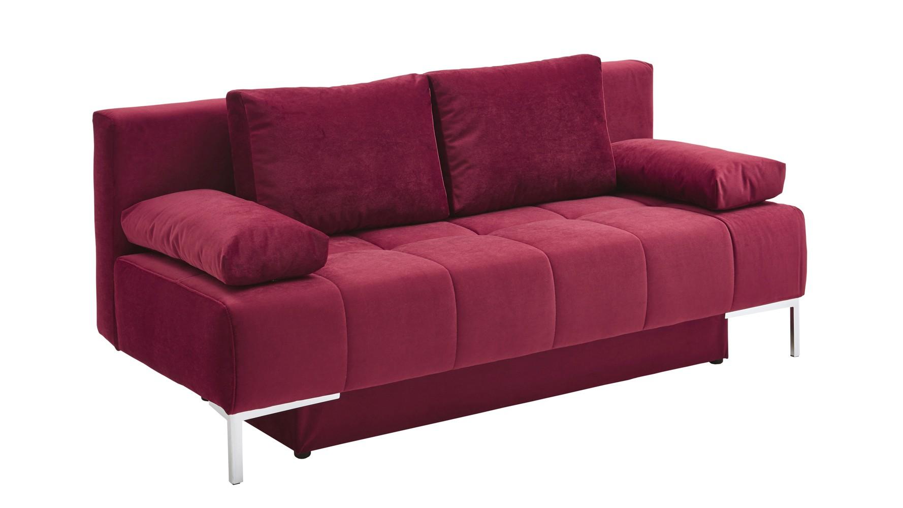 modernes schlafsofa uwe querschl fer mit bettkasten weinrot. Black Bedroom Furniture Sets. Home Design Ideas