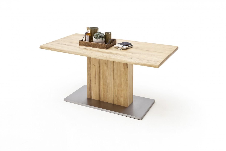 mca furniture esstisch greta balkeneiche massiv mit baumkante. Black Bedroom Furniture Sets. Home Design Ideas
