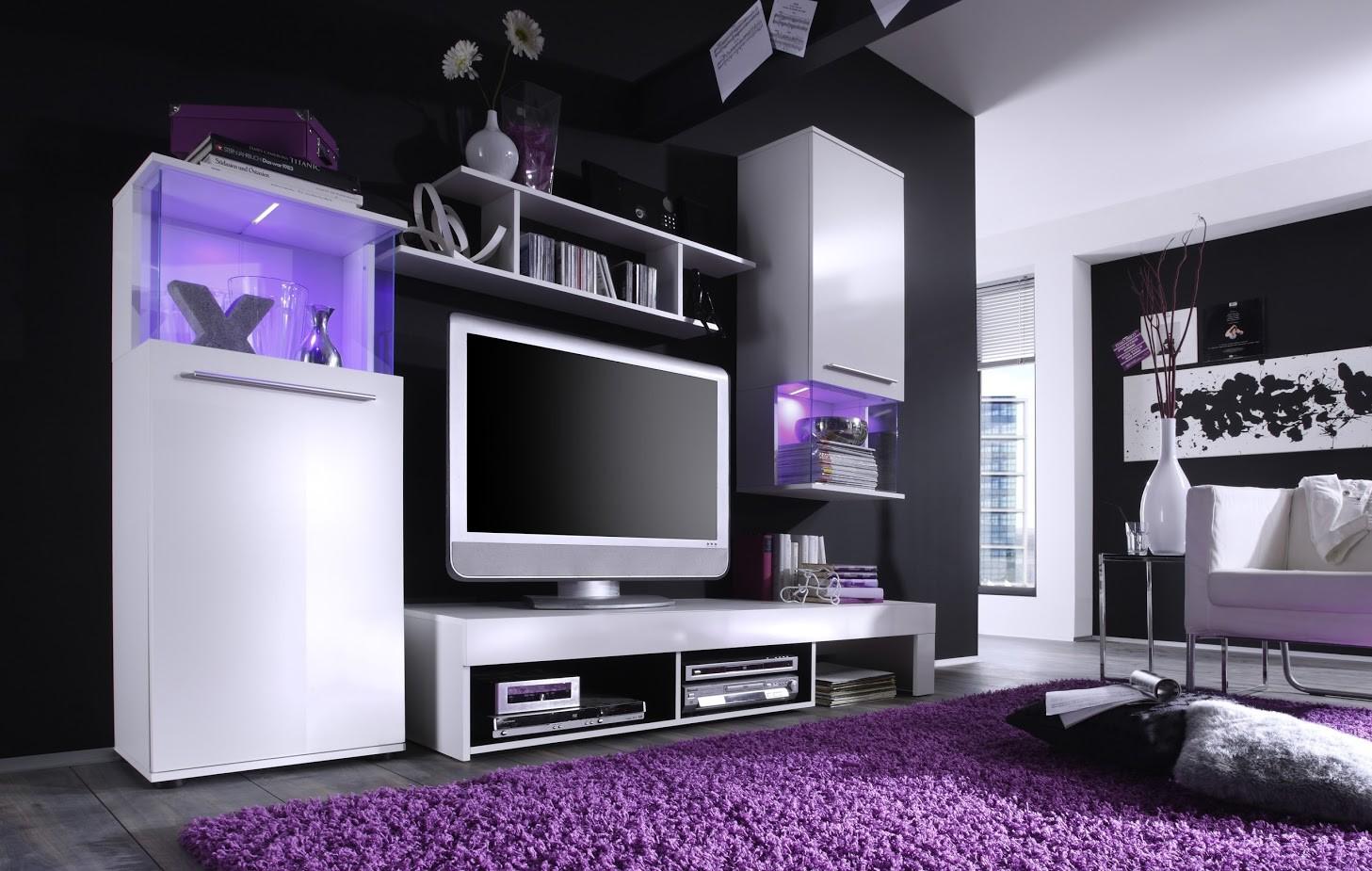 Wohnwand schwarz weiss machen sie den preisvergleich bei for Wohnwand trends