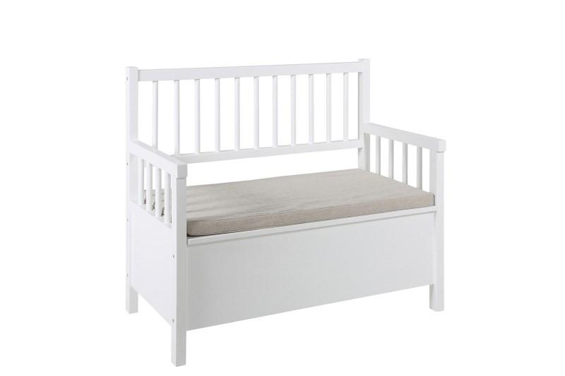 actona aster holzbank wei mit stauraum. Black Bedroom Furniture Sets. Home Design Ideas
