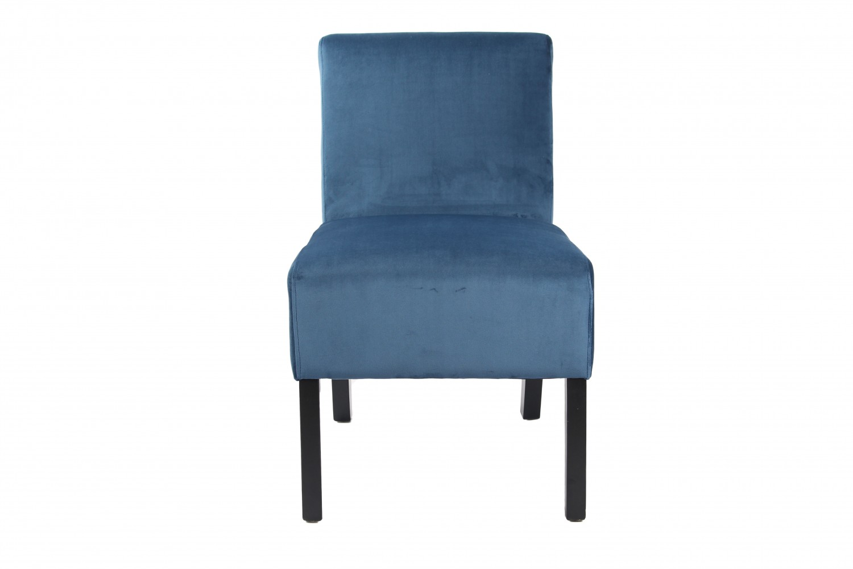 Stuhl samt blau for Samt sessel blau