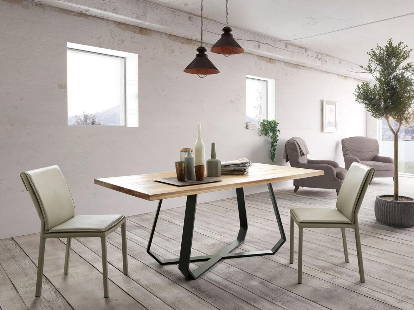 altacom esstisch udine eiche massiv 180x90 cm. Black Bedroom Furniture Sets. Home Design Ideas