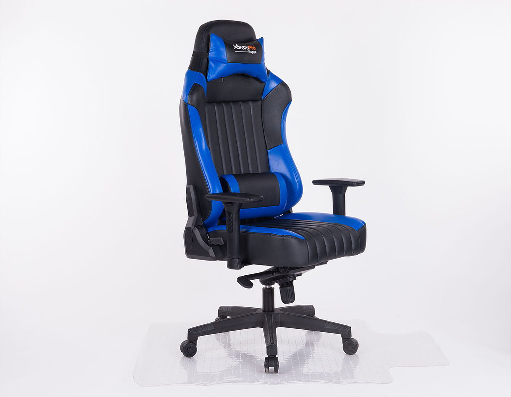 xtrempro kappa pc gamingstuhl schwarz blau b rostuhl. Black Bedroom Furniture Sets. Home Design Ideas