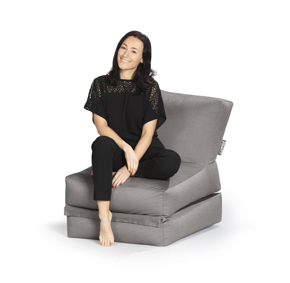 sitzsack twist outside grau 300l sitting point by magma. Black Bedroom Furniture Sets. Home Design Ideas